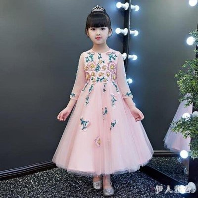 YEAHSHOP 花童禮服2019新款長袖洋裝5Y185