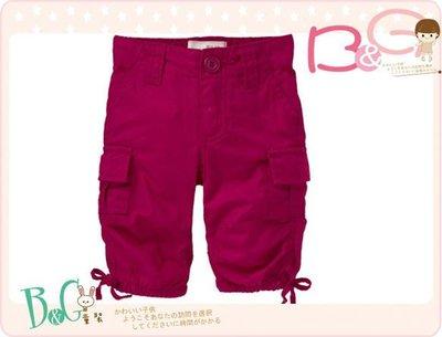 【B& G童裝】正品美國進口OLD NAVY 莓果色女童短褲3,4yrs