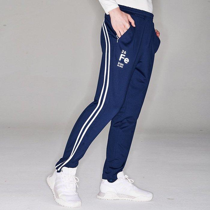 【OTOKO Men's Boutique】固制:復古雙線條運動長褲/藍色(台灣獨家代理)