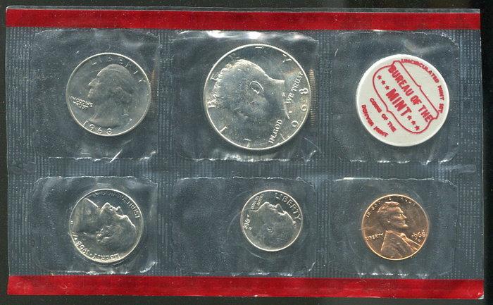 美國1968年套幣,含一枚銀幣 #191144