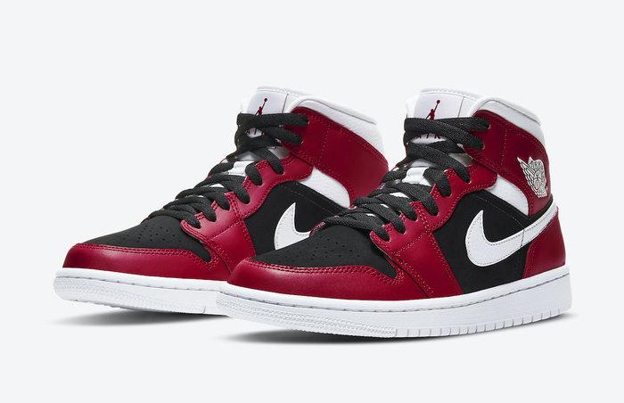 沃皮斯§ Air Jordan 1 Mid W 黑白紅 小芝加哥 女鞋 BQ6472-601