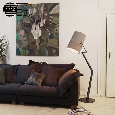 「美燈匯」foscarini Fork floor lamp 後現代水桶概念布藝落地燈D M/D/236