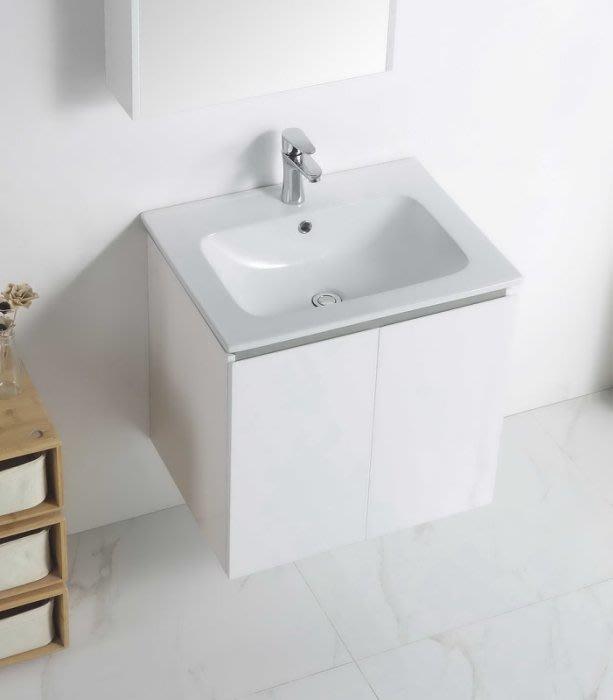 《E&J網》MooE V1-60WH 防水發泡板 浴櫃 + 臉盆 60cm臉盆鋼烤浴櫃組 雙開門 詢問另有優惠