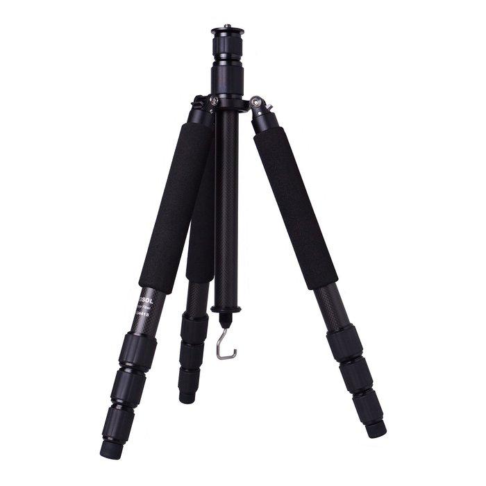 【傑米羅】FEISOL CT-3441S Rapid 旅行者碳纖維三腳架 (28mm 四節) - 兩節式中柱 (黑色)