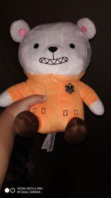 可愛培波娃娃~正版海賊王~貝波熊~BEPO~培波熊娃娃~