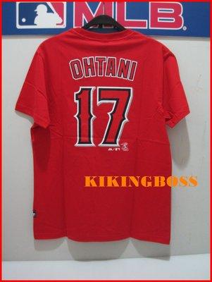 【喬治城】MLB美國大聯盟 天使隊 大谷翔平 Ohtani 號碼T 17號 紅色 6760217-150