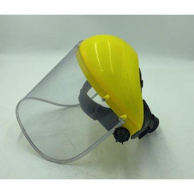 『寰岳五金』安全防護面罩 防護面具 防飛沫 除草機 割草機 PVC 透明面罩 可調整頭圍 有鋁框