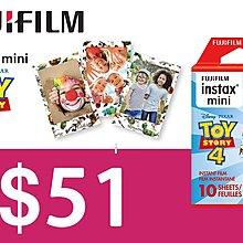 [DJS LIFESTYLE] Fujifilm instax mini film Toy Story 4 富士即影即有菲林相紙迪士尼反斗奇兵玩具總動員 $51
