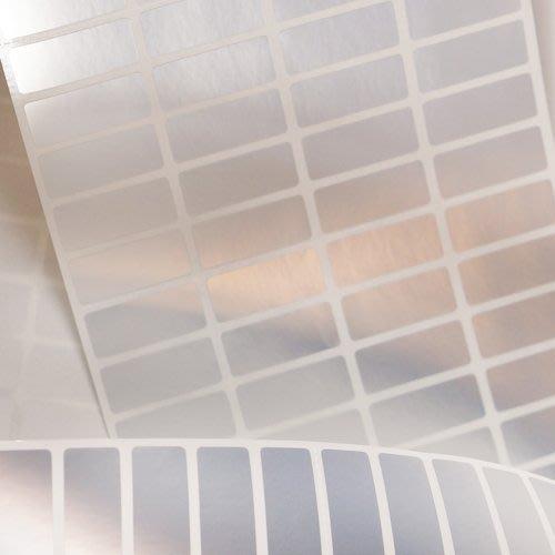 熊爸印&貼 銀色底 姓名貼紙 客制貼 防水 貼紙 標籤 小貼尺寸 500張80元