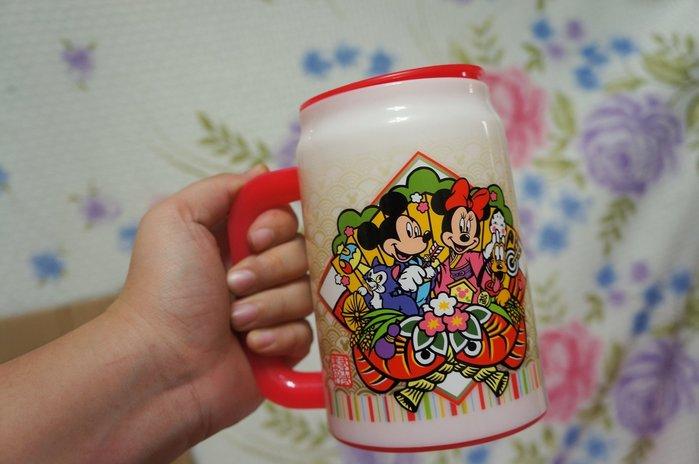 瘋日本*東京迪士尼樂園限定絕版-非賣品-米奇米妮*正月新年-飲料杯/手拿杯370ML-特價490元