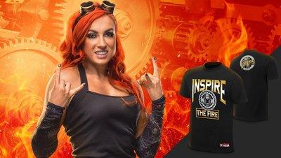 ☆阿Su倉庫☆WWE摔角 Becky Lynch Inspire The Fire T-Shirt Divas最新款