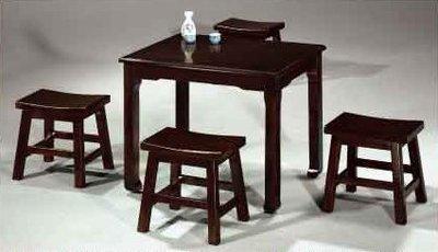 【南洋風休閒傢俱】典雅餐桌椅系列 –AR-936馬鞍低椅 木質餐桌組 (730-3)