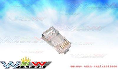 【WSW 網路線】KTT CAT5E接頭 高純度鍍金 8P8C 3叉 網路接頭 RJ45 水晶頭 可零售/整包出 台中市