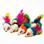 【皮蛋媽的私房貨】TOY0005 貓玩具可愛毛絨小老鼠-多種顏色-羽毛尾沙沙鼠-MOUSE-會發出沙沙聲! 貓咪超愛玩!