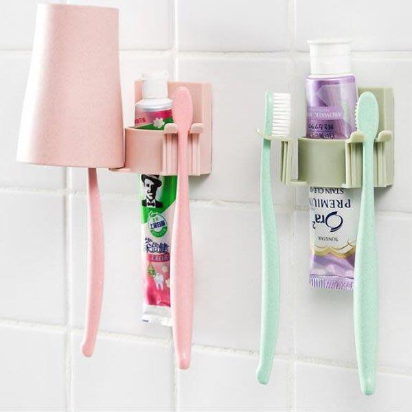 《Jami Honey》【JG0797】浴室無痕雙邊牙刷牙膏架 無痕掛勾