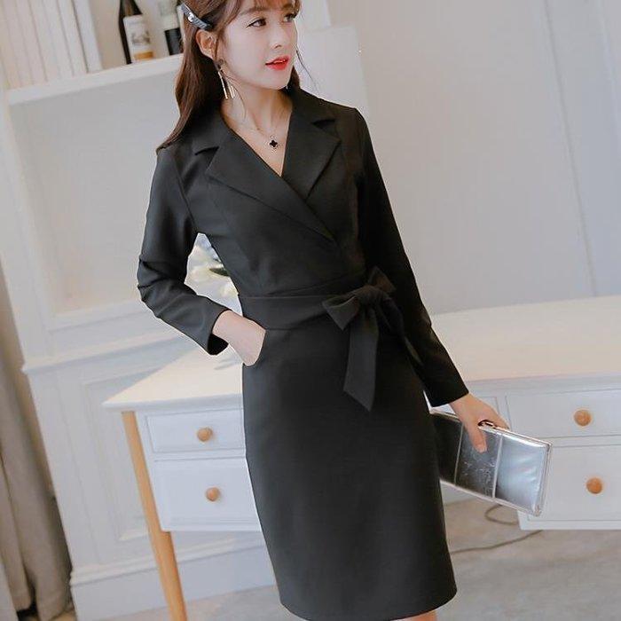 中大尺碼針織洋裝 秋季新款女裝修身韓版百搭修身顯瘦時尚針織洋裝 QG7775 Biglove