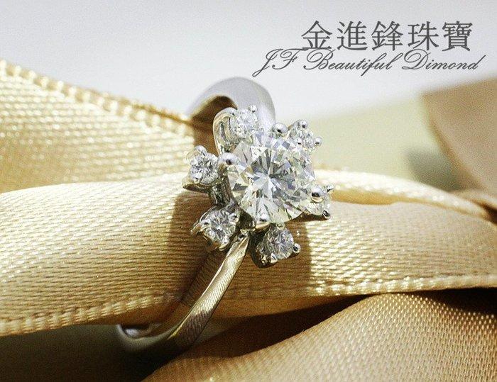 JF 金進鋒珠寶 細緻款 14K白金鑽石女戒  客製鑽石戒指  裸鑽  鑽戒 鑽石婚戒 J000200