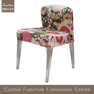 HOME MALL~謙容造型花布餐椅(B3048)$2200元(雙北市免運費)6N