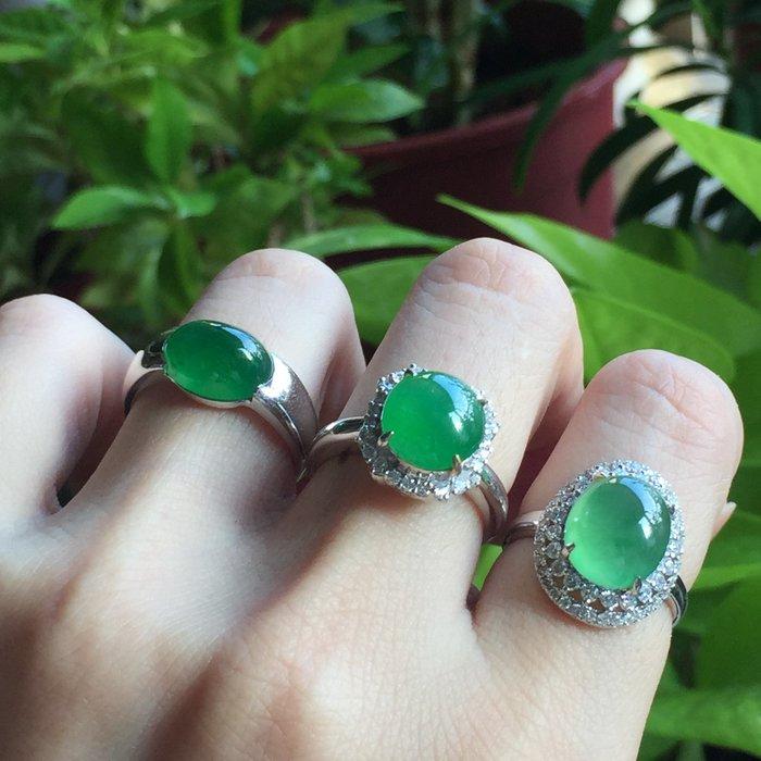 有喜歡可撩撩😁🌸翡麗寶盒🌸翡翠A貨超美的綠蛋戒指