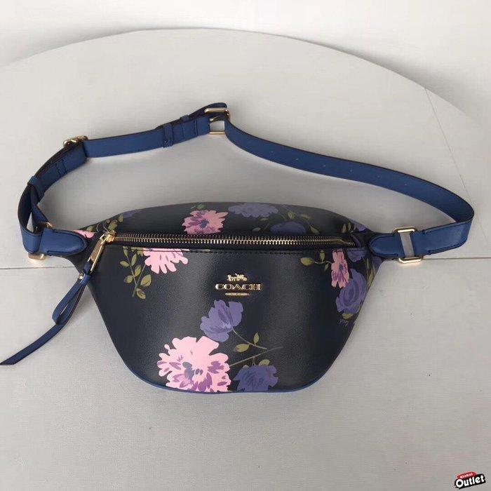 【全球購.COM】COACH 75701 75702 新款女士時尚花朵印花 腰包 胸包 時尚百搭 美國代購