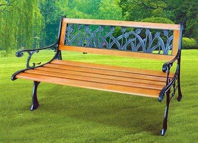 [家事達] 台灣OA-283-6 郁金香-鑄鐵公園椅 特價
