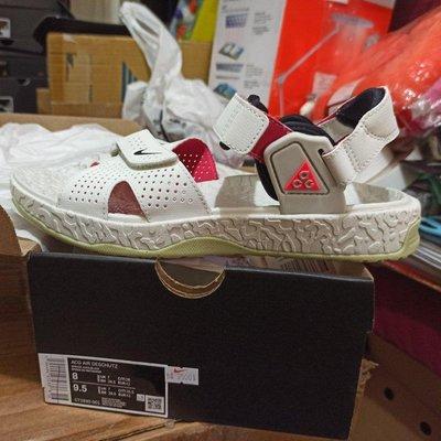 Nike ACG Air Deschutz 涼鞋 白 紫紅 綠底 男鞋 女鞋 戶外風格 CT2890-001 us8