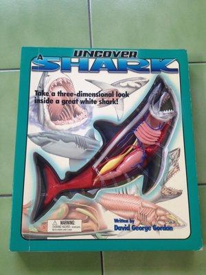 (絕版)David George Gordon-Uncover a Shark鯊魚揭密(3D鯊魚模型,立體書可參考)