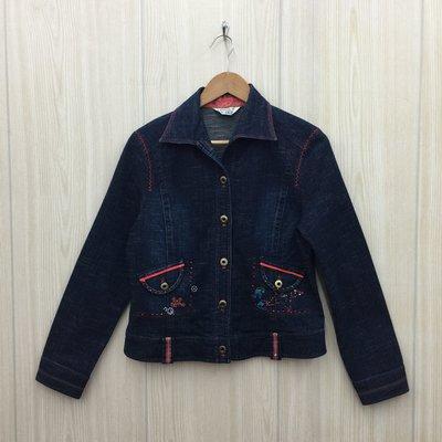 【愛莎&嵐】REFINED ELEGANCE 女 藍色牛仔外套 / 13 1080307