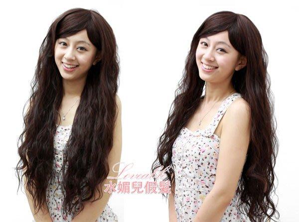 水媚兒假髮-日韓系HL606-H日韓時尚波希米亞雨絲頭-高溫絲 現貨或預購
