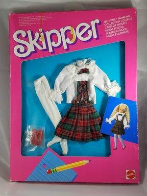 代購 芭比 Skipper Teen Time College 1998 蘇格蘭格子學院娃衣