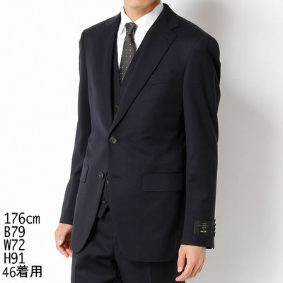 全新COMME CA MEN CERRUTI 1881春夏藍色窄版西裝外套褲HUGO BOOS ARMANI