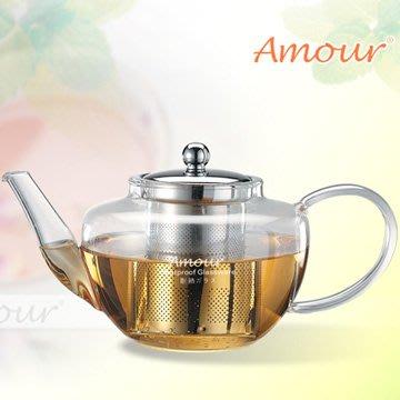 【ROSE 玫瑰咖啡館】Amour 玻璃花茶壺-附濾網 750cc