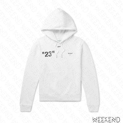 【WEEKEND】 OFF WHITE Quote Modern Office 限量 連帽 衛衣 帽T 白色 19春夏