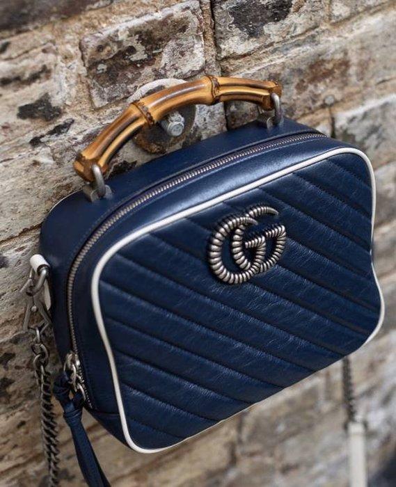 🌺新品特惠專櫃69折♪全新真品Gucci 602270 GG Marmont 小牛皮衍縫餐盒包