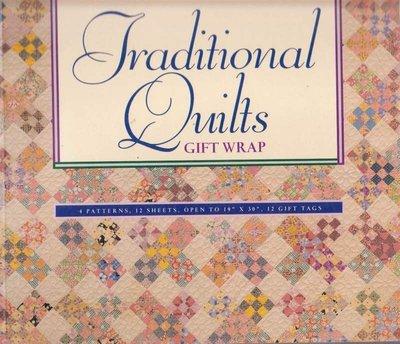 【傑美屋-縫紉之家】美國拼布書籍~Traditional Quilts Gift Wrap 包裝紙 #1146