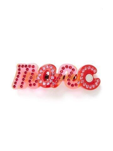 Marc by Marc Jacobs LOGO水晶髮夾