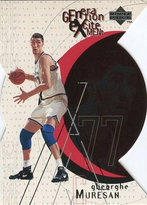 (T)7呎7吋長人 Gheorghe Muresan 1996-97 UD Generation Excitement