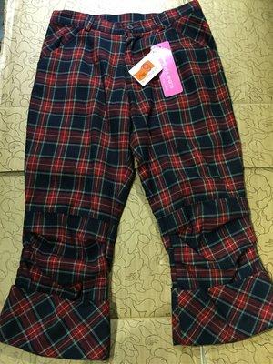 [變身館日本服飾] ~F.T.S~七分褲~格紋~直筒~日本購入~全新現品~M~出清價