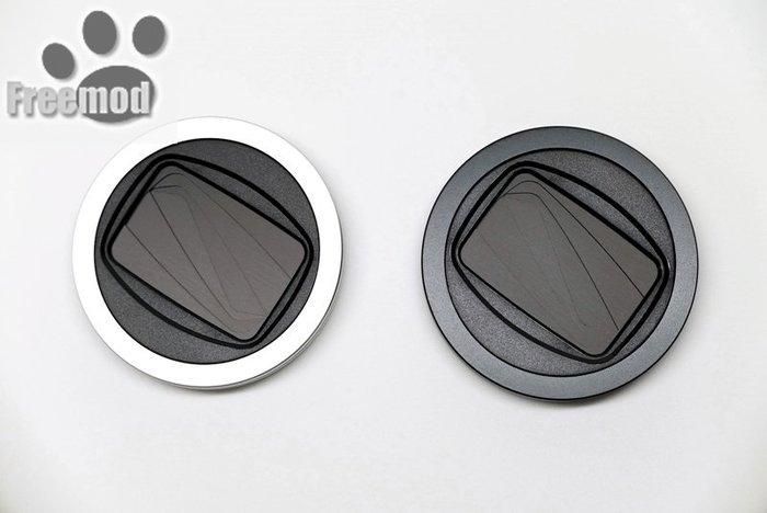 又敗家@台灣Freemod黑色銀色X-CAP2半自動鏡頭蓋46mm鏡頭蓋半自動開閉蓋xcap2,裝轉接環後亦適鏡頭口徑37mm 39mm 40.5mm 43mm