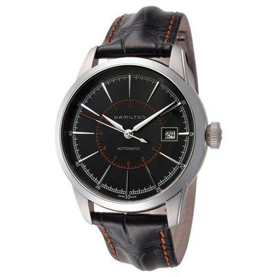 HAMILTON H40555731 漢米爾頓 手錶 機械錶 40mm 藍寶石 黑色面盤 黑色皮錶帶 男錶女錶