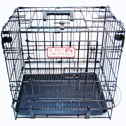 【🐱🐶培菓寵物48H出貨🐰🐹】Q PET》粉彩摺疊籠(正開│側開) 2尺 - 白│藍│黑 特價950元(限宅配)