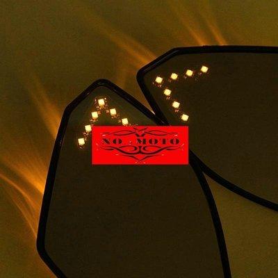 碳纖維色LED方向燈後照鏡後視鏡鏡面帶燈R1 R6 R6S ZX6R 636 7R 9R 10R ex250