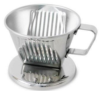~* 品味人生*~ 贈咖啡量匙 寶馬1~4杯滴漏式不鏽鋼咖啡濾器 TA-S-102-ST