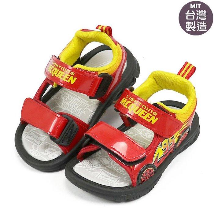 迪士尼閃電麥坤CARS可調整魔鬼氈輕量涼鞋.兒童涼鞋 (218306)紅15-20號