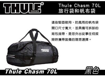   MRK    Thule Chasm 40L 旅行袋 帆布袋 防水袋 / 黑 / 鈷藍 / 橘 / 水藍4色可選