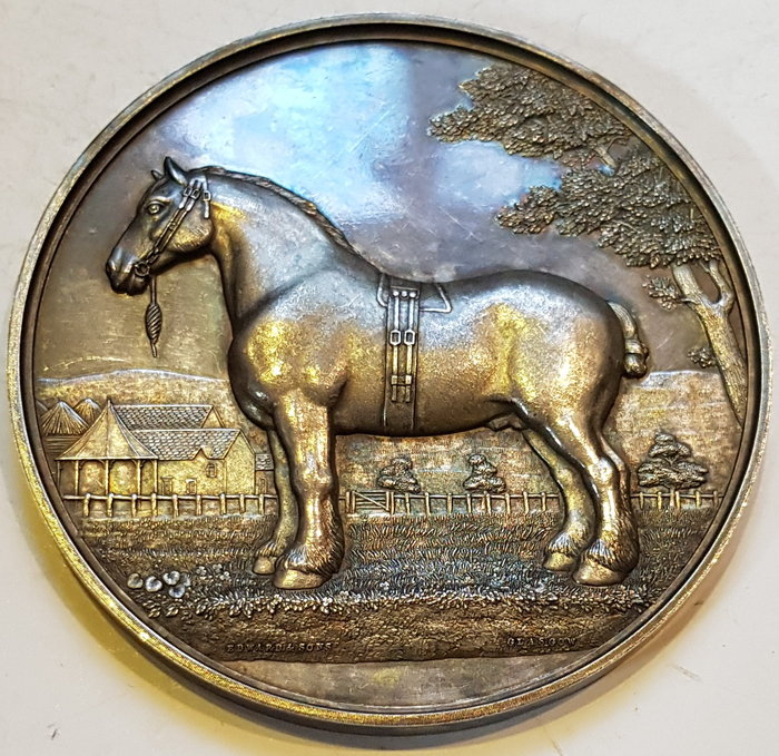 英國大銀章 1888 UK Victorian Clydesdale Horse Society Medal.