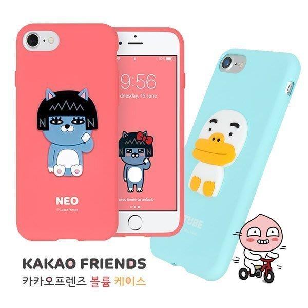 KAKAO FRIENDS 立體人物 強化軟殼 手機殼│Note5 Note8 Note9 Note10│z8040