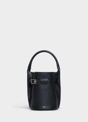 BIG BAG BUCKET NANO soft grain calfskin bucket bag,