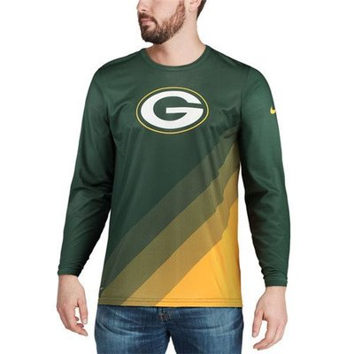 胖人專賣 綠灣包裝工 長袖Green Bay Packers Green Sideline Legend RA530