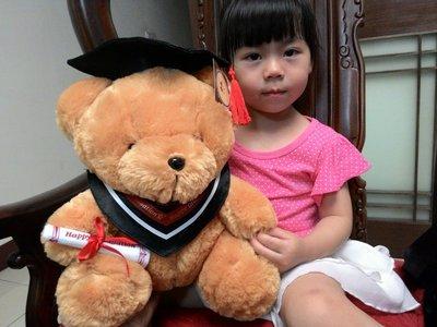 畢業泰迪熊~學士熊畢業泰迪熊娃娃 ~送包裝~泰迪熊 畢業禮物~畢業熊花束 可繡字